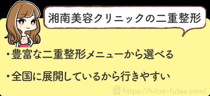 湘南美容クリニックの片目二重整形